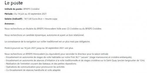 BPJEPS Croisière